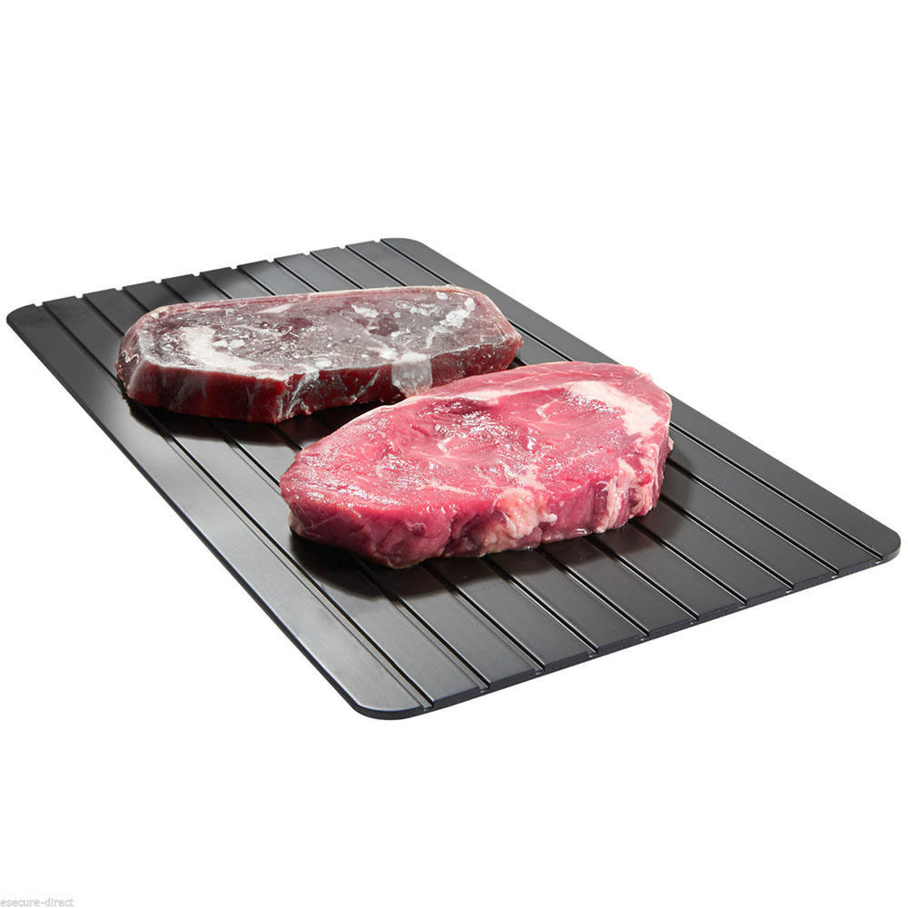 Fast Metal Thawing Plate Defrosting Tray Defrost Meat or Frozen Food Quickly Without Electricity Microwave Quick Frozing Tray
