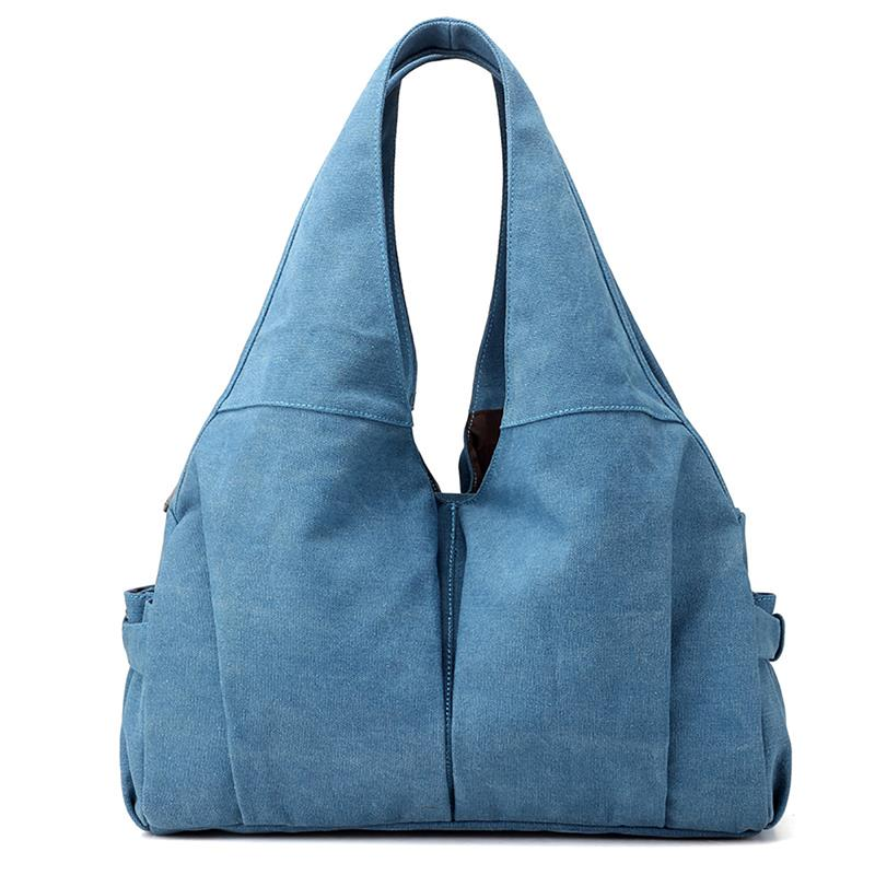 Stylish Women's Shoulder Bag Handbag Fashion Ladies Solid Color Canvas Travel Shopping Bag Casual Tote Bags Bolsos 2018 New стоимость
