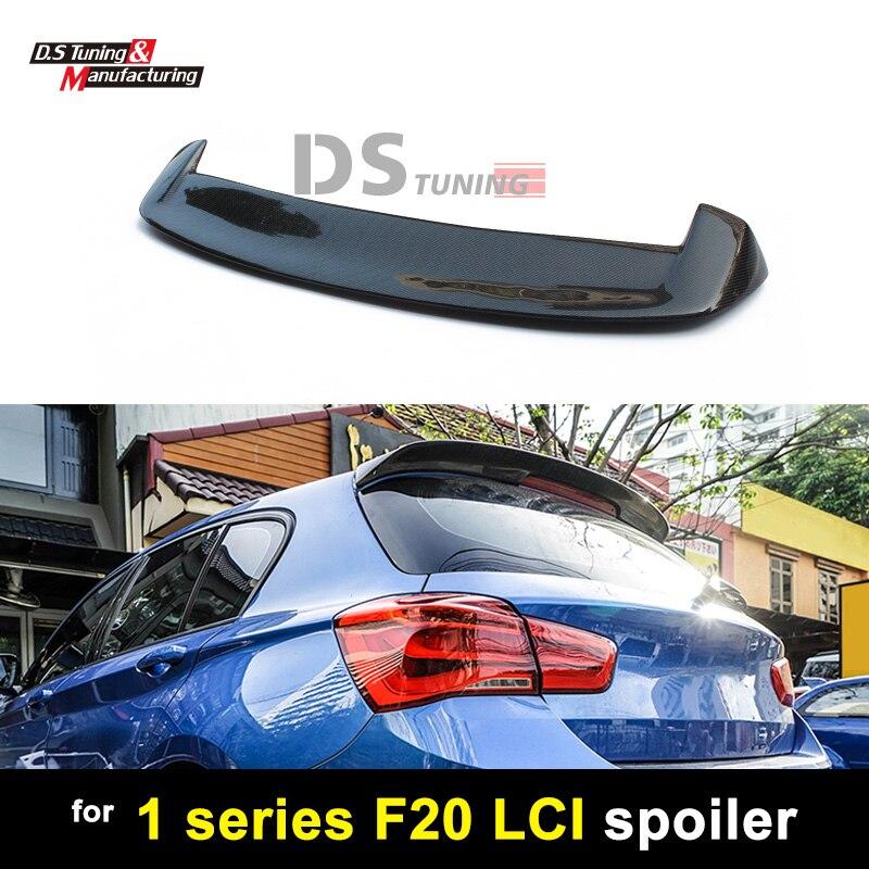 Para BMW F20 Asas de Pato estilo Fibra De Carbono Roof Spoiler 3D para 1 série F20 F21 LCI 2015 2016 2017 2018 118i 120i
