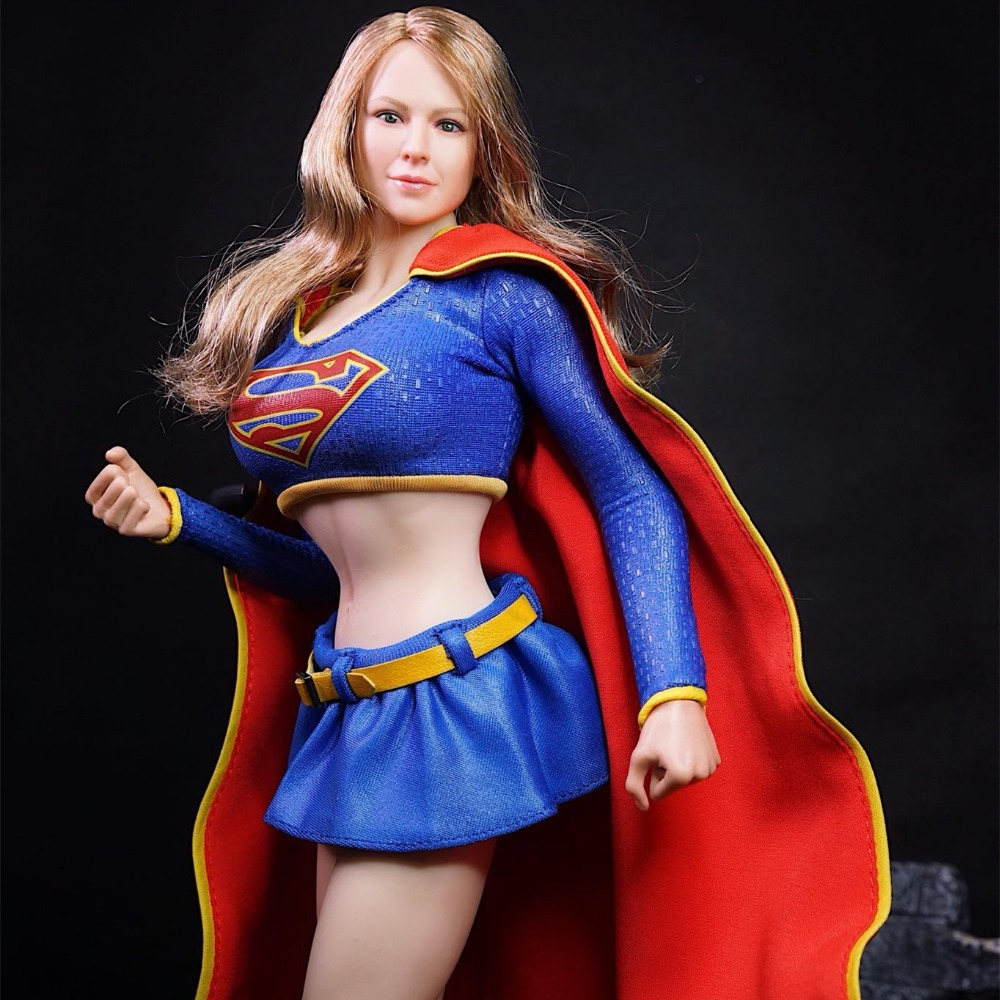 Original Super Duck Set013 Supergirl Suit for 12inch Phicen Tbleague Jiaoudoll Action Figure DIY ...