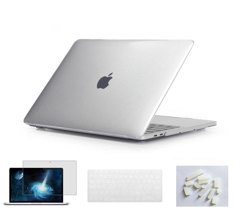 Матовый чехол для ноутбука Apple Macbook Pro retina Air 11 12 13 15 дюймов для Macbook Air13 A1932, Pro 13 15 A1989 A1990 - Цвет: Crystal Claer