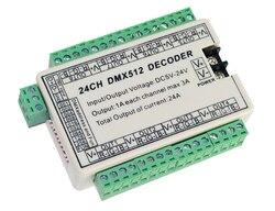 Najlepsza cena 1 sztuk 24CH dmx 512 led dekoder kontroler używać do taśmy led