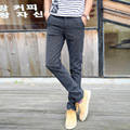 Four Seasons section Man's Cotton and linen business casual pants youth straight-leg Fashion men's trousers