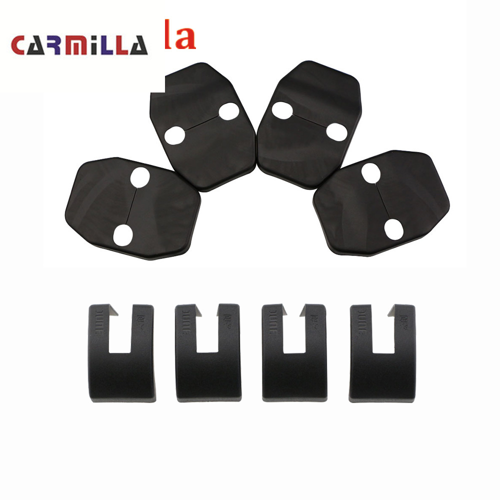 ABS Car Door Lock Cover For BMW X1 X3 X4 X5 X6 E90 E92 F30 F10 Car Styling Door Stopper Protector Covers Accessories Carmilla