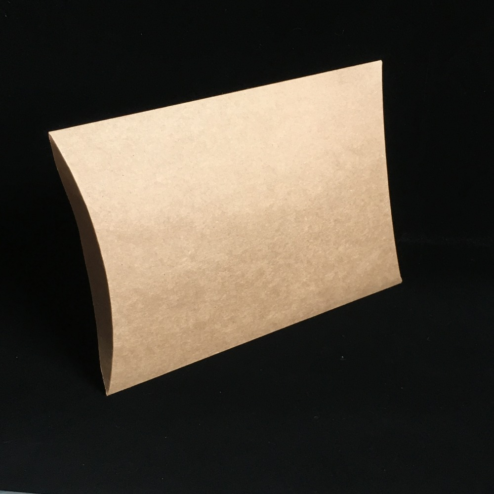 80x55x20mm Diy Black Kraft Paper Pillow Jewelry Display: 12PCS Karft Pillow Box/Paper Gift Boxes Bigger Packaging