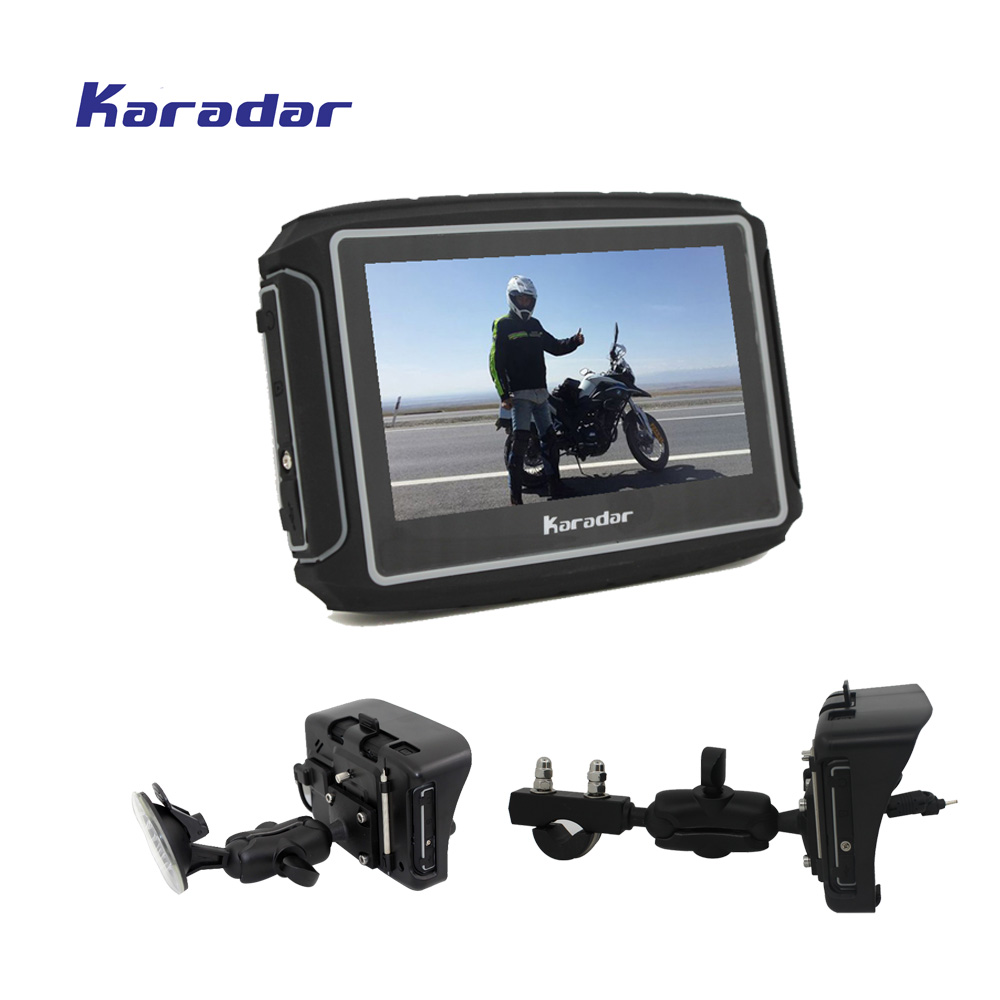 KARADAR Prolech Rider, 4.3 Inch Touchscreen 2 Colors In Stock A Motorcycle GPS Guidance System Free Shipping