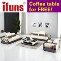 IFUNS modern design genuine leather sectional sofa,sofa set living room furniture