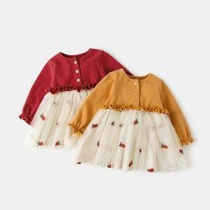 Image 2 - Niemowlę ubranka dla niemowląt noworodek chrzest sukienka dla dziewczynek odzież haftowana truskawka Princess Party świąteczne sukienki do chrztu