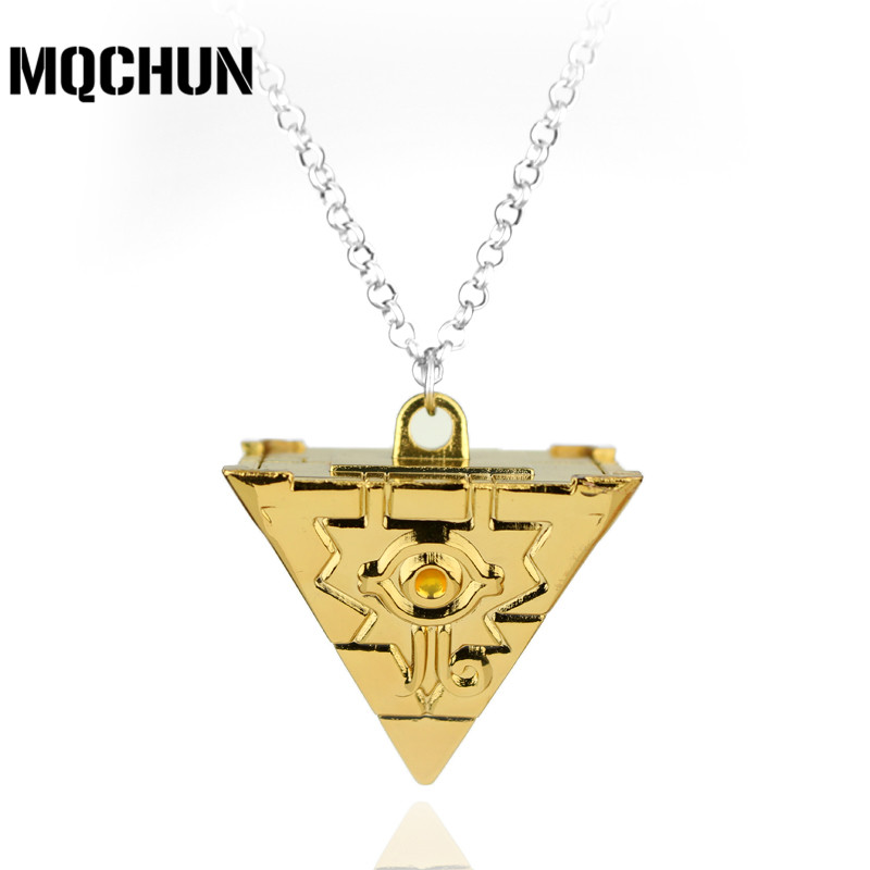 2Color Hot Anime Yu-Gi-Oh YGO Millenium Puzzle YuGiOh Yugi Millennium Pendant Necklace for Women and Men Jewelry Accessories-30 ...