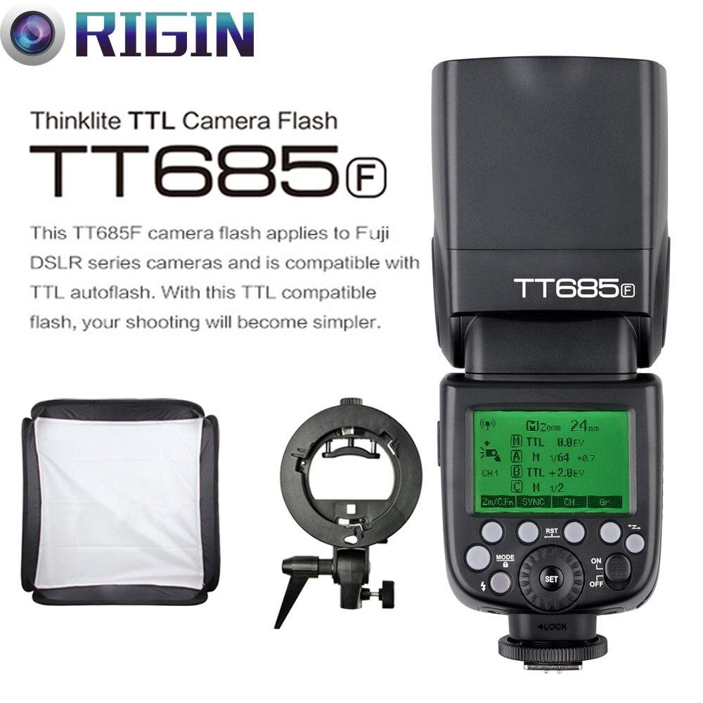 Godox TTL II tt685f Камера flash 2.4 г беспроводной HSS 1/8000 s GN60 + Godox S Тип кронштейн + софтбокс (40 см/50 см) комплект для Fuji Камера s