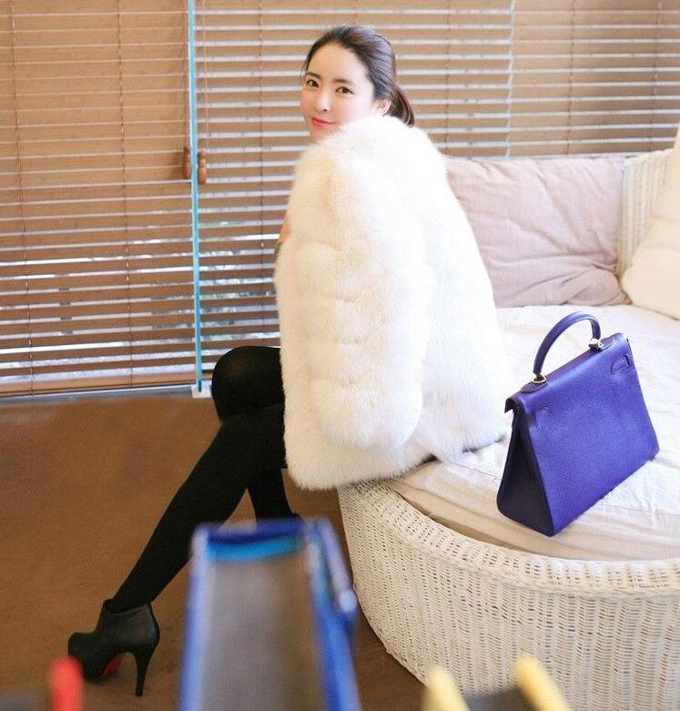 Raisin 2018new Fourrure Femmes Manteau Artificielle grape rose Chaud Blanc Casual Épais De Coréenne Beige blanc Rouge Mode Violet Renard Gris Viole noir D'hiver wpZZg5Iq