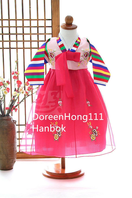 Korean Tradtional Girl Hanbok Dress 1st Birthday Party Korean Hanbok Dolbok