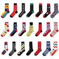 Envío Gratis Coloridos Calcetines De Algodón Peinado Hombres Calcetines de Marca (2 par/lote)