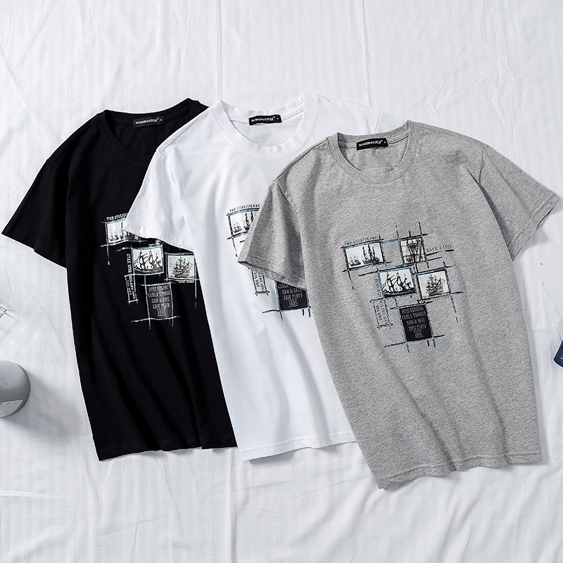 New Men   T  -  Shirts   Plus Size 5XL Tee   Shirt   Homme Summer Short Sleeve Casual Men's   T     Shirts   Male Cotton Camiseta   T  -  shirts   Homme
