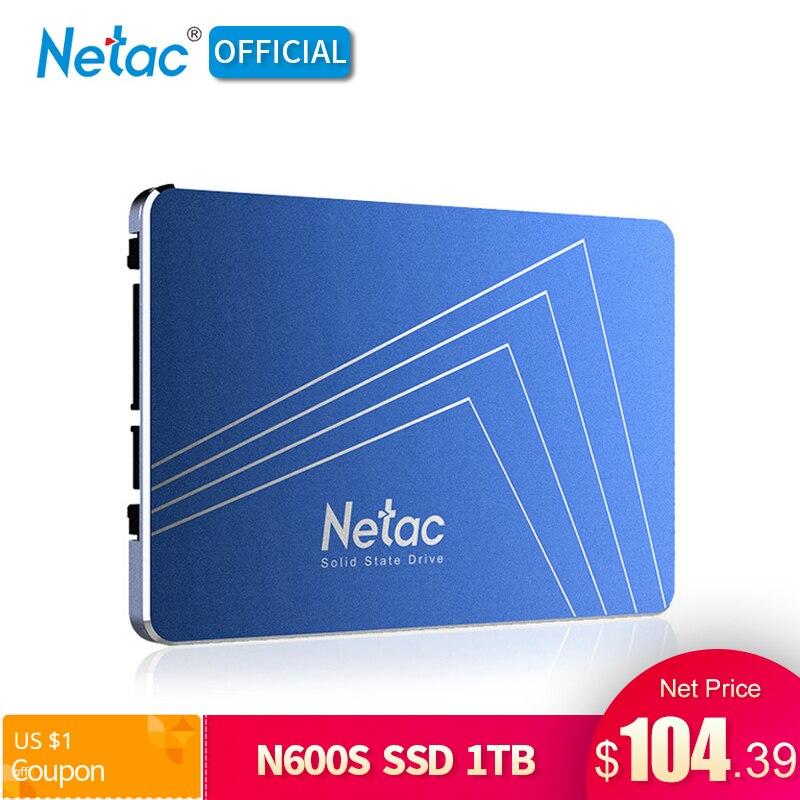 Original Netac 1TB SSD Hard Drive 2 5 Inch SATA III Internal Solid State Drive N600S