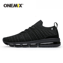 ONEMIX Men Casual Jogging Shoes Sneakers Big Size 2019 Luxury Brand Air Cushion Knitted Fabric Skateboarding For Running