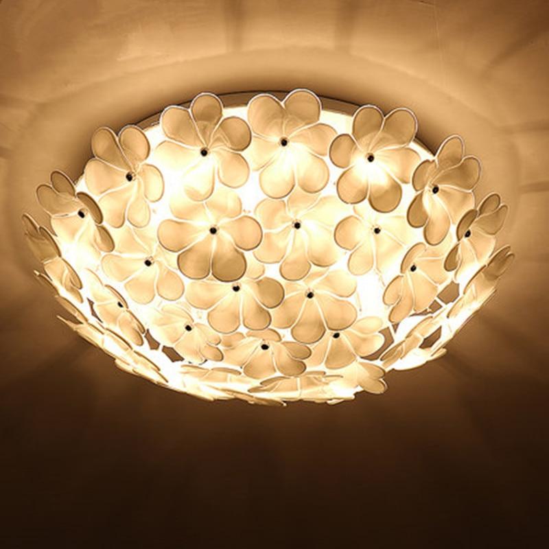 Modern LED flower ceiling lights bedroom lamp wedding room garden room living room remote control LED round lamp ZA