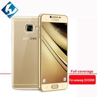 10PCS LOT Full Coverage Tempered Glass Screen Film For Samsung Galaxy C5 C5000 9H Protective Film