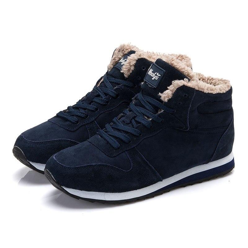 Men Shoes 2017 Flock Men Winter Shoes Brand Warm Men Casual Shoes Male Snow Shoes men