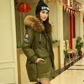 Real Large Raccoon Fur Collar 2016 Winter Jacket Women Duck Down Coat Army Green Thickening Warm Parkas Hooded Overcoat