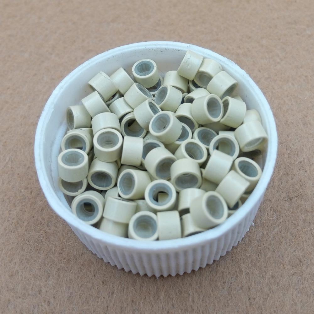 1000st 4.5mm silikonfodrad Micro Links Rings Pärlor - Hårvård och styling - Foto 6