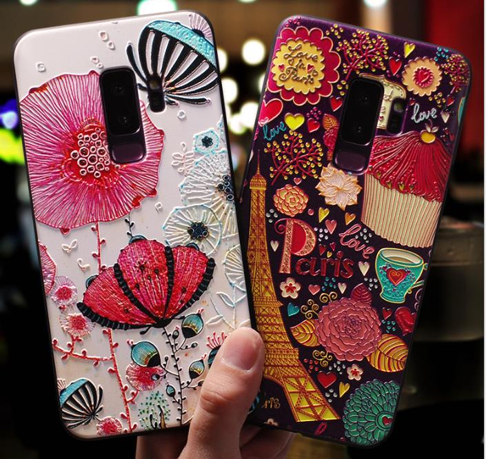 3D Relief Case For Samsung Galaxy S10 Plus Lite A6 2018 A8 Plus J4 J6 A5 2017 J5 J7 Note 8 9 S6 S7 Edge S8 S9 Plus A8 Stars Case