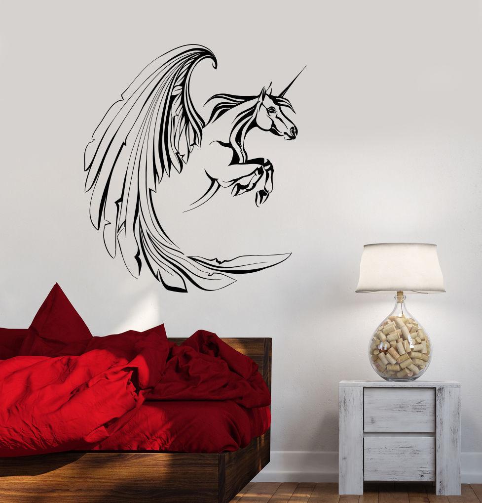 Big Wings Unicorn Wall Stickers Home Decor Living Room ... on Room Decor Stickers id=50484