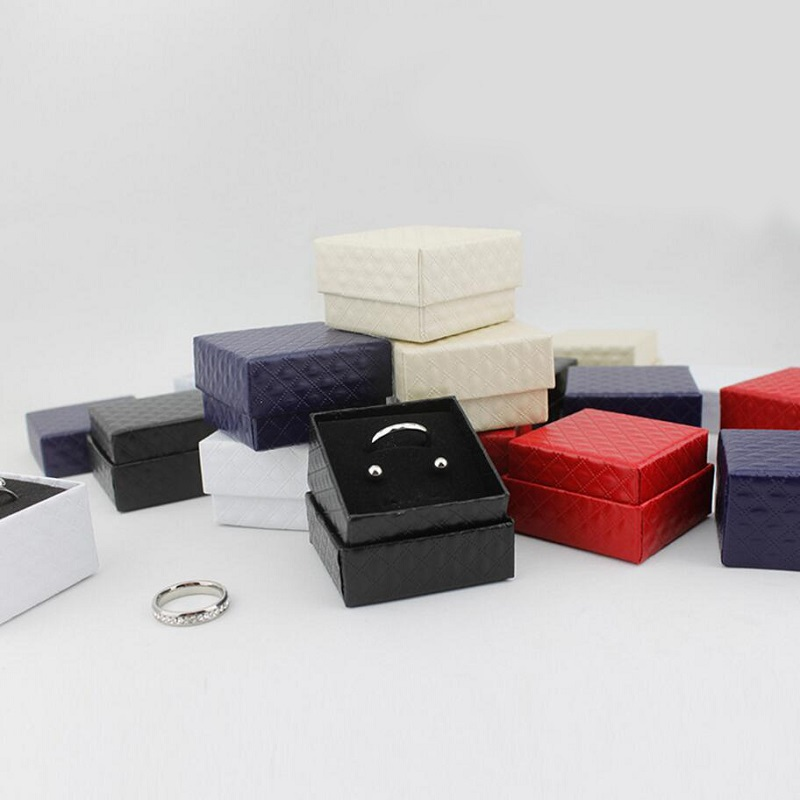 Jewery Organizer Box Rings/Earrings Storage Small Gift Box DIY craft Display Case Packag ...