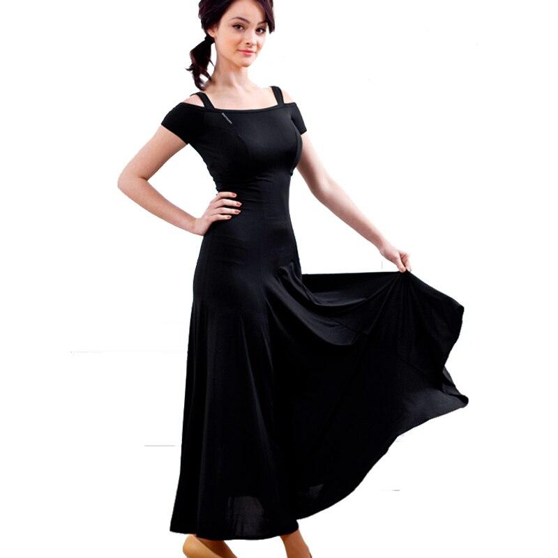 Sexy Women Modern Dance Skirt Dress Ballroom Waltz Tango Dance Wear