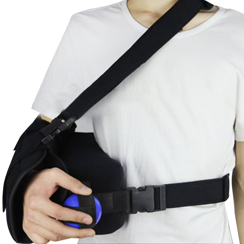 Shoulder Abduction With Pillow Orthopedic Medical Arm Sling Shoulder Immobilizer Wrist Elbow Rotator Cuff Support Brace factory direct sale hinge elbow brace arm support medical orthopedic orthotics supports