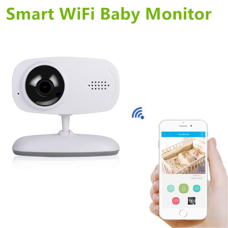 Smart WiFi Baby Monitor Video Nany 720P IP Camera Night Vision Intercom Babyfoon Camera Home Security Mini Camera