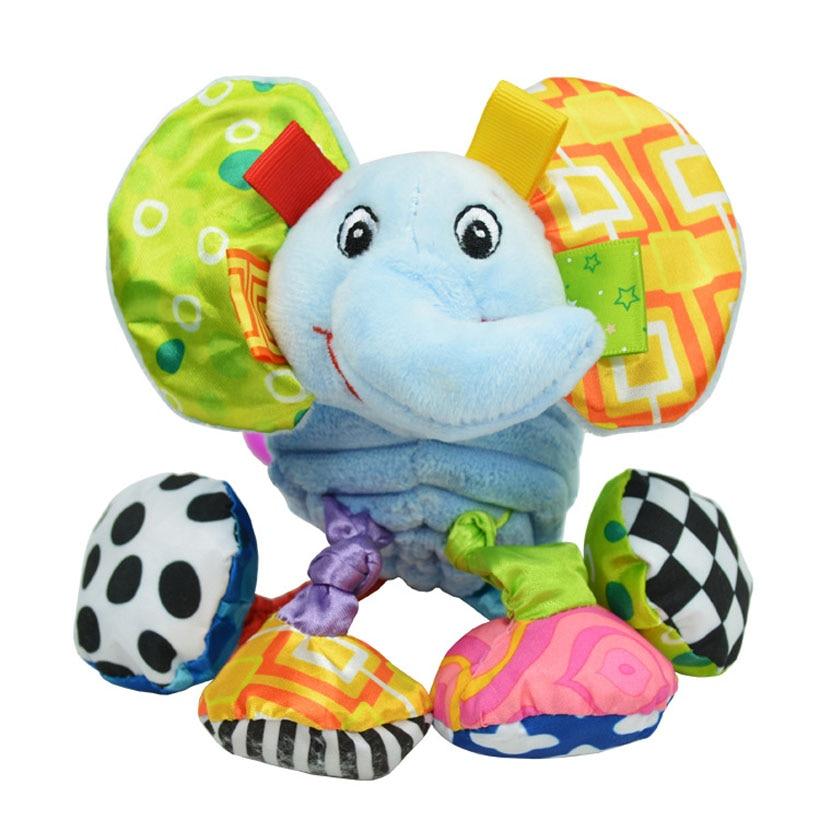 Animal Baby Bell Handvat Educatief Speelgoed Baby Rammelaar Bell - Speelgoed voor kinderen - Foto 1