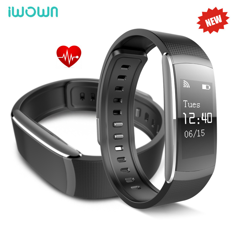 ФОТО Original iwown i6 Pro Smart Bracelet Heart Rate Monitor Wristband Bluetooth 4.0 Fitness Tracker For iphone 6 IOS Android Phones