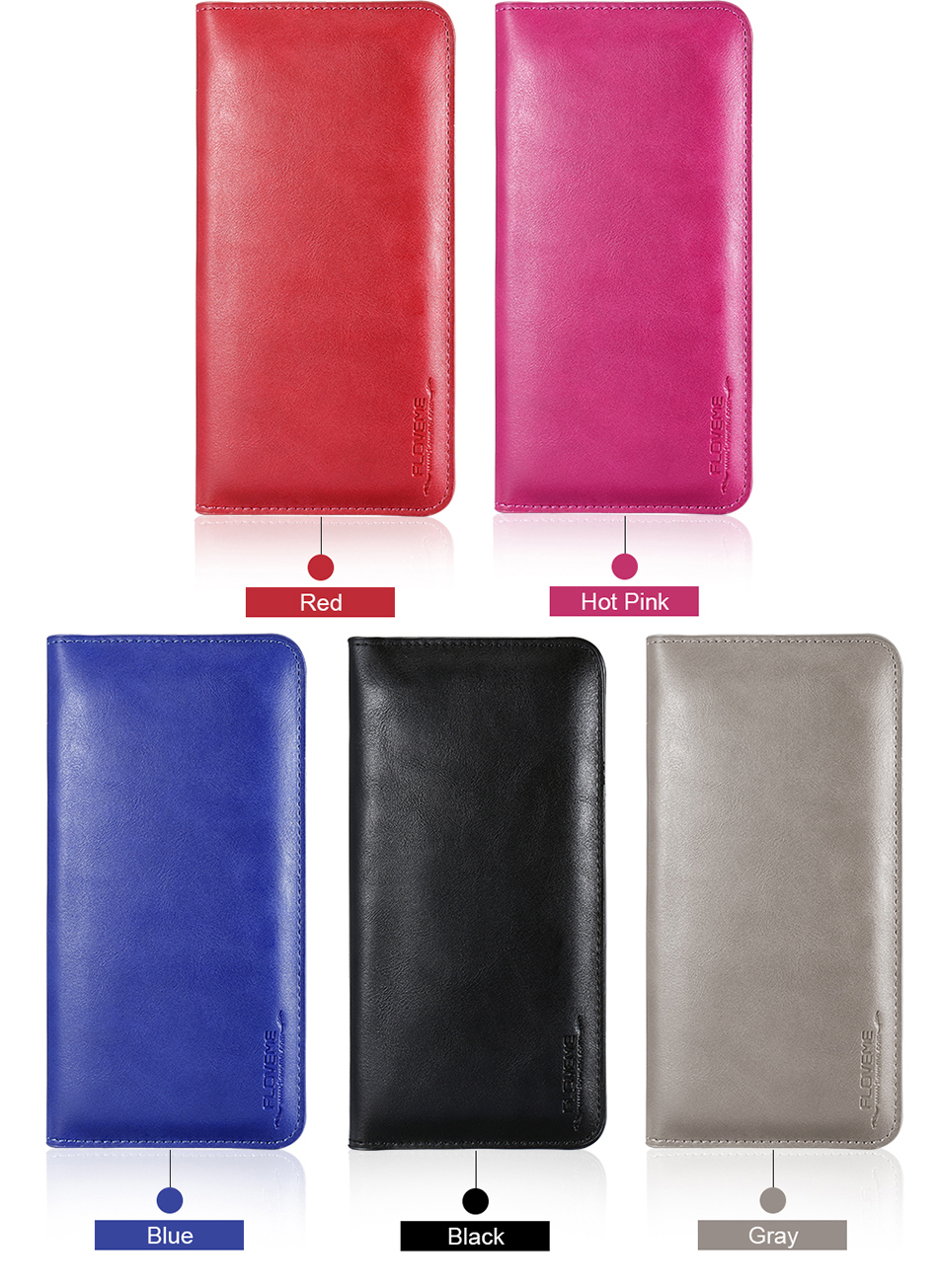 FLOVEME Genuine Leather Wallet Case For iPhone 6 6S 7 Plus Cover Multi-function Vintage Luxury Phone Pouch For Samsung S6 S7 (15)
