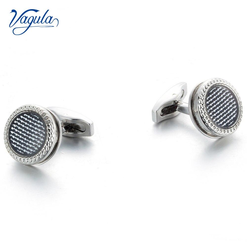 VAGULA New Cufflinks Wedding Gift Suit Shirt Buttons Cuff Links Top Luxury Brand Round Bonito Gemelos 51398