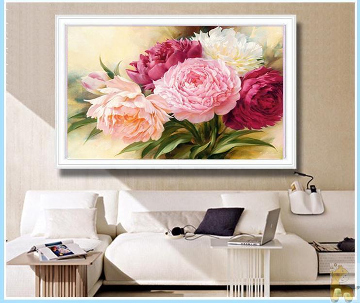 Flores de peonía Diamante redondo Diy 5D pintura diamante kits de - Artes, artesanía y costura - foto 2