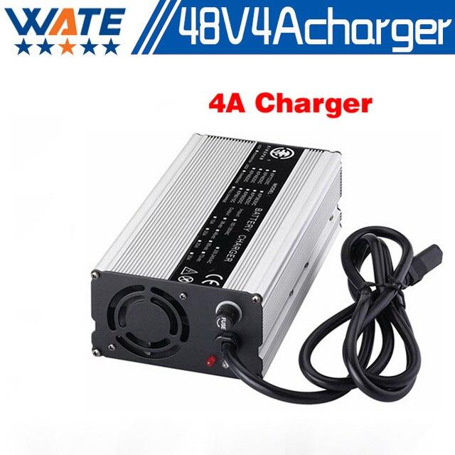 48 V 4A carregador de bateria-54.6v 4Amp 13 S Lipo E Moto-bateria De Lítio/LiMnO4 bateria carregador de Alta Qualidade com carcaça de alumínio CE & RohS
