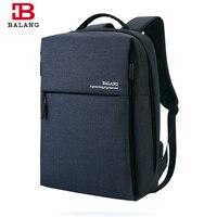 BALANG Brand New Men S Business USB Port Backpack Unisex School Backpack For Teenagers Boys High
