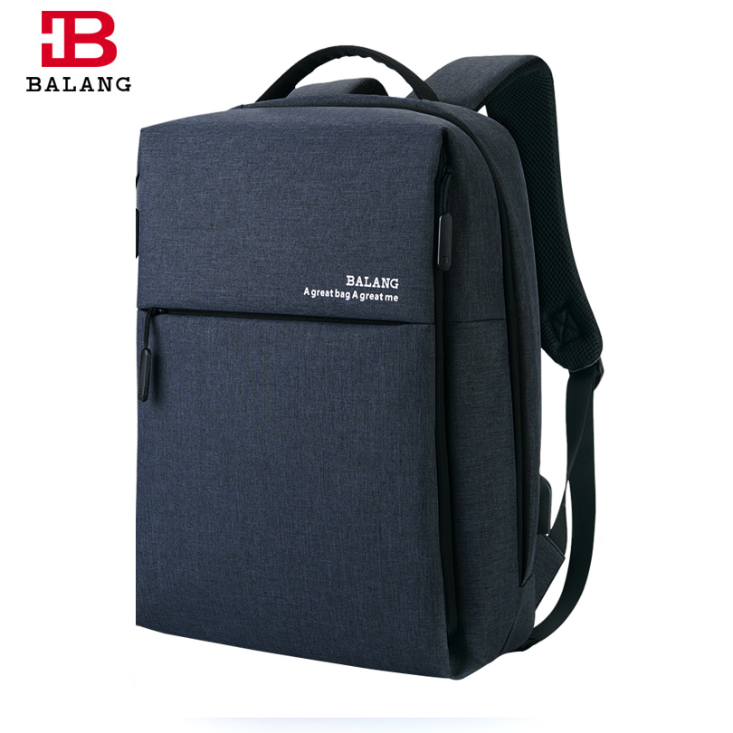 BALANG Brand New Men's Business USB Port Backpack Unisex School Backpack for Teenagers Boys High Quality Fashion Travel Bags kaka brand new unisex fashion school backpack for teenagers large capacity travel bags girls boys high quality laptop bags