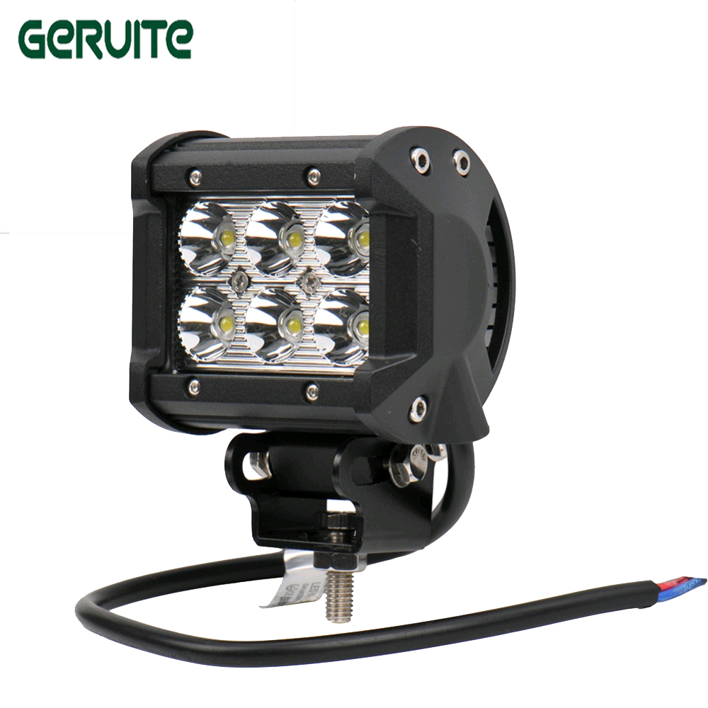 2PCS 4 inch 18W LED Work Light Lamp for Motorcycle Tractor Boat OffRoad 4WD 4x4 Truck SUV ATV Spot Flood 12v 24v LED Fog Light popular led light bar spot flood combo beam offroad light 12v 24v work lamp for atv suv 4wd 4x4 boating hunting