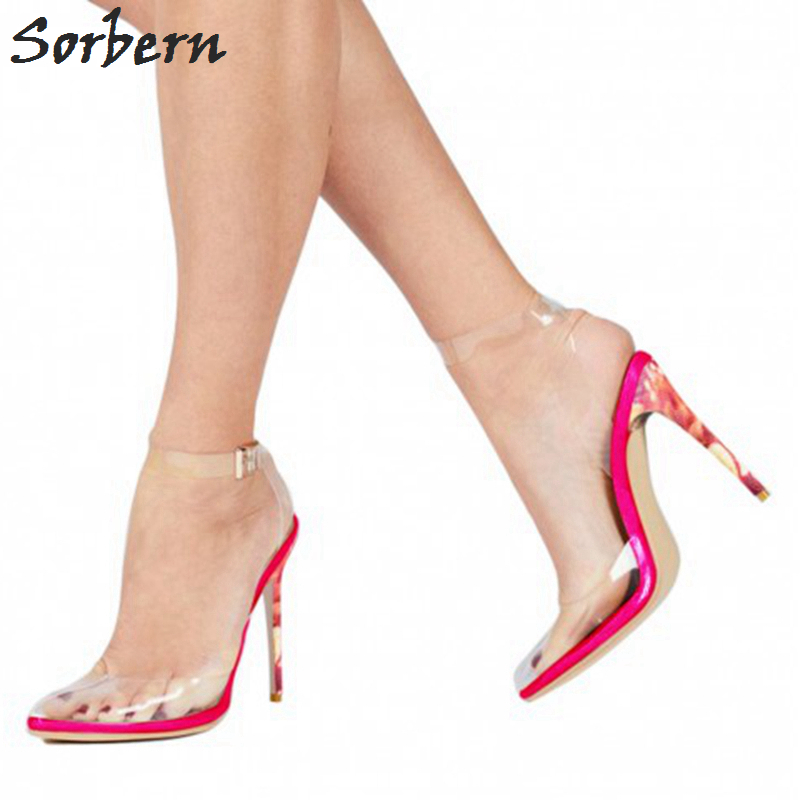 Sorbern PVC Transparan Wanita Sandal multi-warna High Heels - Sepatu Wanita - Foto 5
