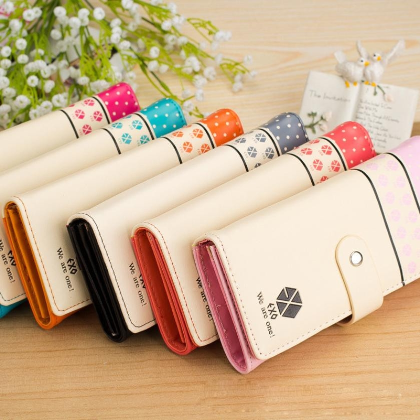 New Fashion Women Coin Purse Clutch Button Wallet Bag Cute Card Holder Ladies Wallet Haps Zipper Multi Color Long Purse