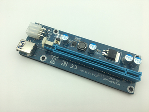 Image 5 - Mini adaptador de tarjeta elevadora SATA, Cable de alimentación de 6 pines para minería de Bitcoin BTC, USB 3,0 de 60cm, PCI E a PCIe PCI Express de 1x a 16x