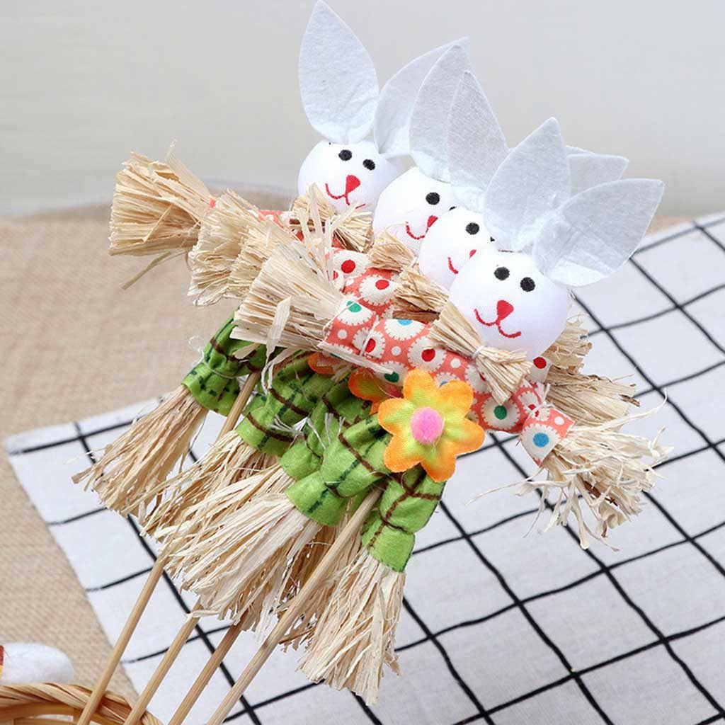 Пасхальный кролик тема ручной пусковой нетканый материал соломенные материалы игрушечная бутафория украшения для дома вечерние аксессуары Пасхальный кролик