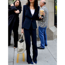 Navy Women Ladies Custom Made Business Office Tuxedos Formal Work Wear New Suits jacket pants