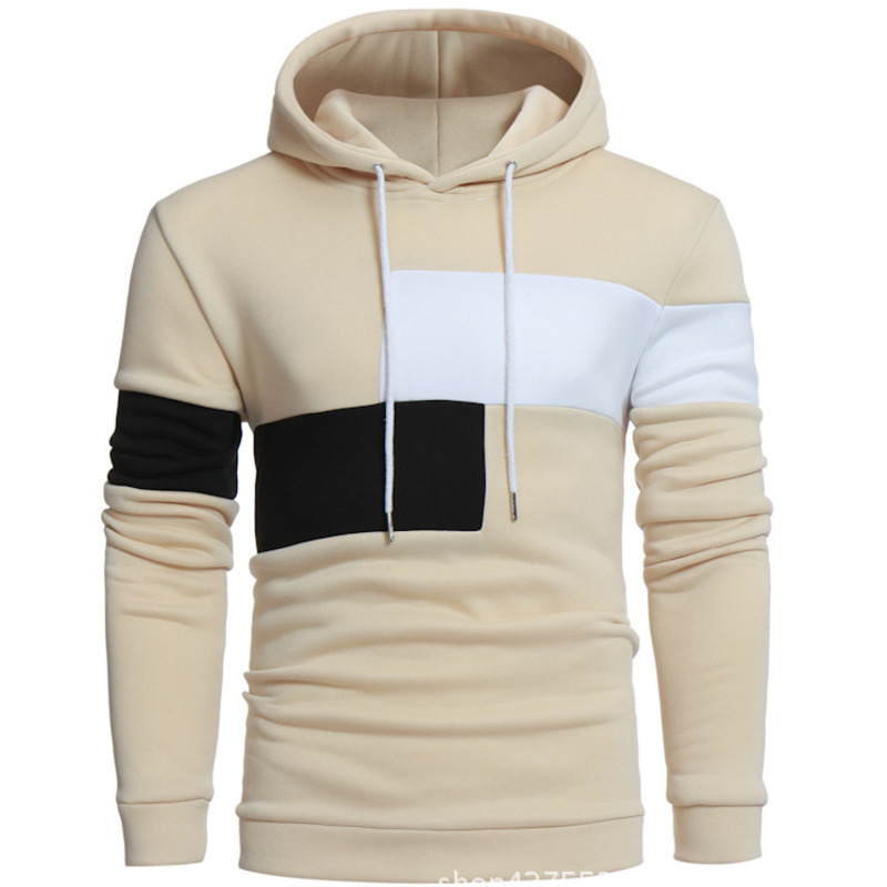 Autumn and Winter New Fashion Hoodies Personality Mens Splice Long Sleeves Hooded Pullover Mens hoodie sweatshirt men casual