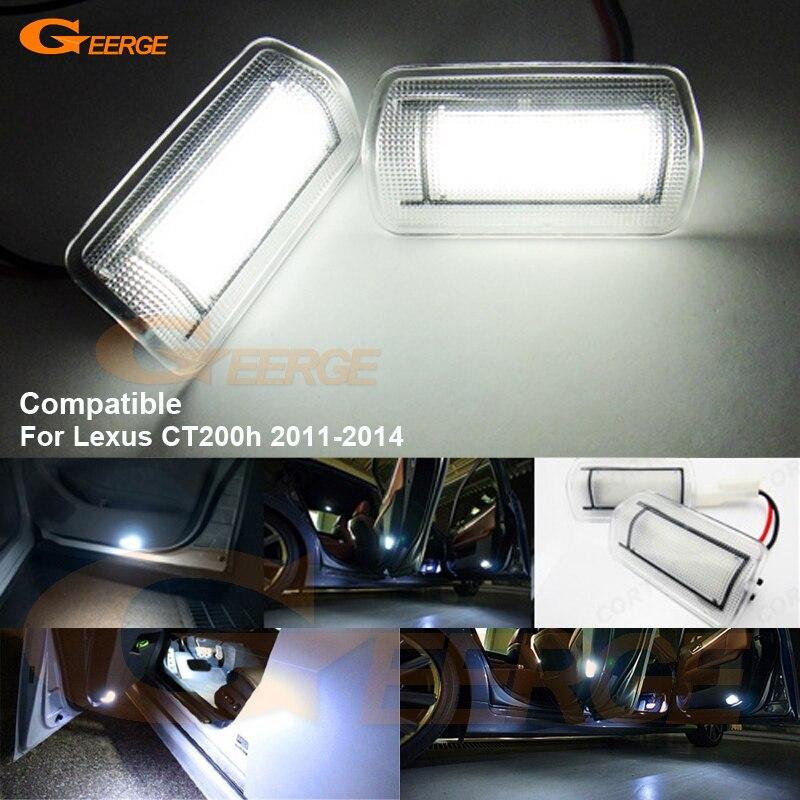 Per Lexus CT200h 2011 2012 2013 2014 Excellent Ultra luminoso 3528 LED Luce  di Portello di Cortesia Lampadina errore No OBC 044f33336e56e