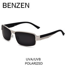 BENZEN Polarized Sunglasses Men Classic Alloy Male Sun Glasses Glasses For Driving Shades With Case 9003(China)