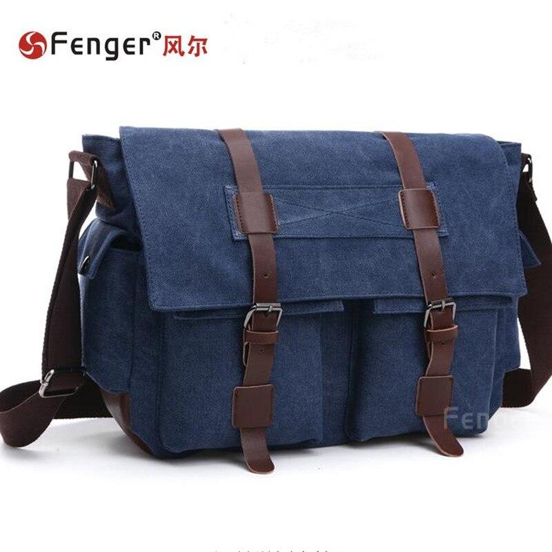 ФОТО Male handbags canvas shoulder bag fashion retro  man bag canvas bags Leisure large capacity travel bag mochila