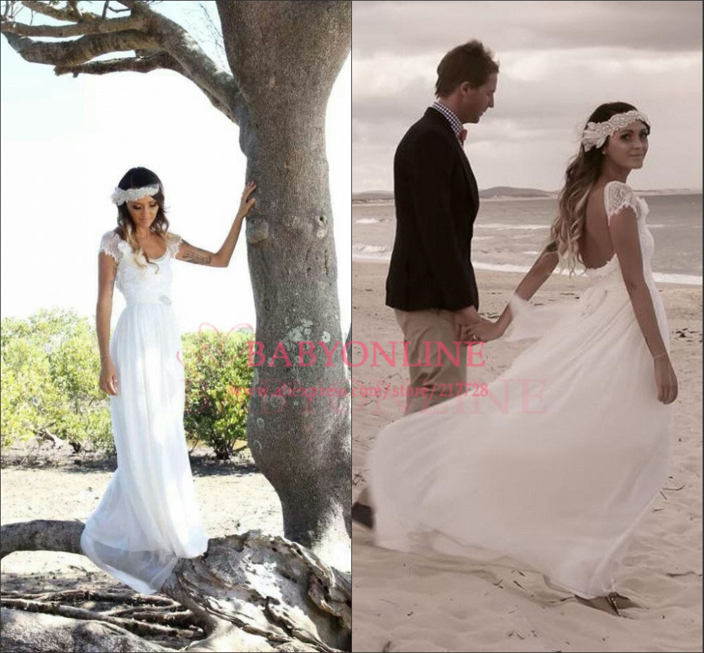 vintage boho wedding dress vintage boho wedding dress Long Sleeve Lace Bodice Chiffon Skirt A Line Wedding Dress